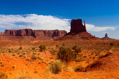 Iconic peaks of rock formations in the Navajo Park of Monument V Stock Photography
