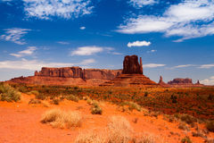 Iconic peaks of rock formations in the Navajo Park Stock Image