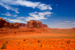 Iconic peaks of rock formations in the Navajo Park Royalty Free Stock Photo