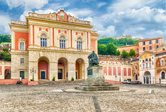 The iconic Piazza XV marzo, old town of Cosenza, Italy Stock Photography
