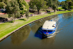 Iconic Pop-Eye boat in Torrens River, Adelaide Stock Images