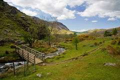 The iconic Rannerdale valley in Spring Royalty Free Stock Photos