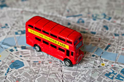 The iconic red bus miniature Royalty Free Stock Photography