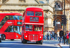 Iconic red double decker bus in London Royalty Free Stock Photography
