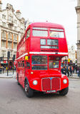 Iconic red double decker bus in London Royalty Free Stock Photo