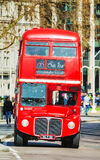 Iconic red double decker bus in London Royalty Free Stock Image