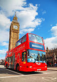 Iconic red double decker bus in London, UK Stock Photography