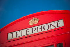 Iconic red phone box in London Stock Images