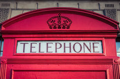 Iconic red phone box in London Royalty Free Stock Image