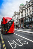 The iconic red Routemaster Bus in London Royalty Free Stock Photography