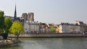 Iconic river scene in Paris Royalty Free Stock Images