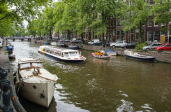 Iconic Scenes from Amsterdam Royalty Free Stock Images