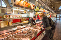 Iconic seafood market in Gothenburg, Sweden Stock Photo