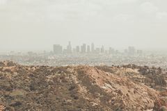The City of Angels Skyline royalty free stock photography