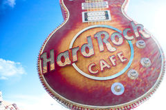 The Iconic sign of Hard Rock Cafe Stock Image