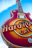 The Iconic sign of Hard Rock Cafe Royalty Free Stock Photography
