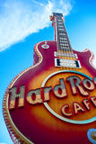 The Iconic sign of Hard Rock Cafe Royalty Free Stock Photo