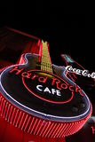 The Iconic sign of Hard Rock Cafe restaurant Royalty Free Stock Image