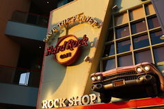 The Iconic sign of Hard Rock Cafe restaurant Royalty Free Stock Images