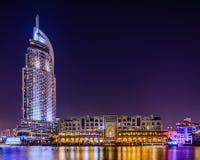 Iconic sikt av Dubai Arkivbilder