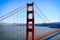 Iconic sikt av Golden gate bridge Royaltyfri Bild