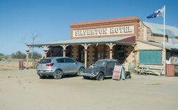 Siverton Hotel, The Outback, Australia royalty free stock images