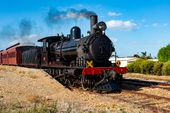 The iconic 207 Steam Cockle train in Middleton South Australia on 24th April 2018 royalty free stock images