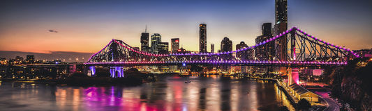 Iconic Story Bridge in Brisbane, Queensland, Australia. Royalty Free Stock Images