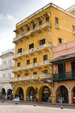 Iconic Street at Cartagena, Colombia Stock Image