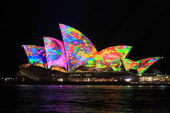 Iconic Sydney Opera House in bright colours Stock Images