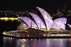 Iconic Sydney Opera House during Vivid festival Stock Photo