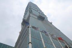 Iconic Taipei 101 skyskrapa Taipei Taiwan Arkivbilder