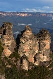 Iconic Three Sisters in Blue Mountains Royalty Free Stock Photos