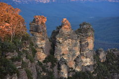 Iconic Three Sisters in Blue Mountains Royalty Free Stock Images