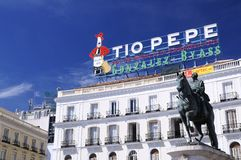The iconic Tio Pepe sign. Stock Photography
