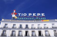 The iconic Tio Pepe sign. Royalty Free Stock Image