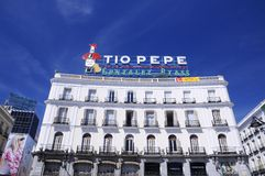 The iconic Tio Pepe sign. Stock Photo