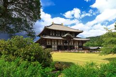 Iconic Toda-ji Temple In Nara Park,Japan Stock Photography