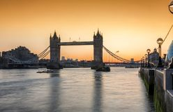 The iconic Tower Bridge in London stock images