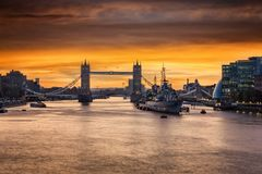 The iconic Tower Bridge in London, United Kingdom stock photos