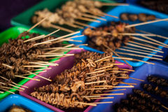 An iconic traditional food sate from indonesia angkringan jogja indonesia. Java Royalty Free Stock Photography