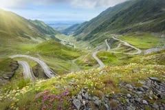Iconic Transfagarasan highway at idyllic sunny day Stock Photography