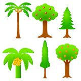 Iconic Trees. An illustration of iconic trees isolated on white background Royalty Free Stock Images