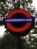 Iconic tunnelbana Arkivfoto