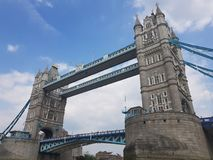 Tower Bridge over the River Thames. Iconic Victorian Tower Bridge over the River Thames which runs through the United Kingdom& x27;s Capital City, London royalty free stock photos