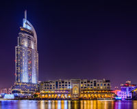 Iconic view of Dubai Stock Images