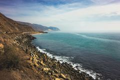 Iconic View of Pacific Coast Highway stock images