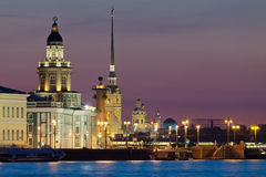 The iconic view of St. Petersburg White Nights Royalty Free Stock Photo