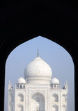 Iconic view of the Taj Mahal Stock Photography