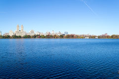 Iconic views of the Upper West Side by the Central Park Reservoi Stock Photography